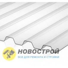 Профилированный поликарбонат трапеция 2000х1050х1,3мм (прозрачный) Юг-Ойл-Пласт