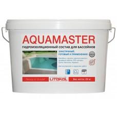 Litokol AQUAMASTER Гидроизоляция серый, ведро 20 кг