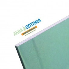 Гипсокартон Gyproc Аква Оптима влагостойкий 2500х1200х12,5