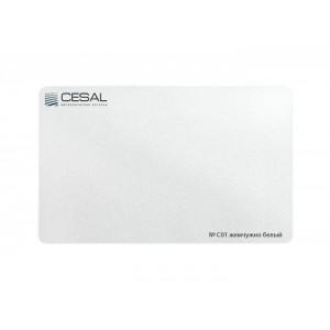 Рейка S-дизайн Эконом С01 100*3000мм, Жемчужно-белый Cesal (Альконпласт)