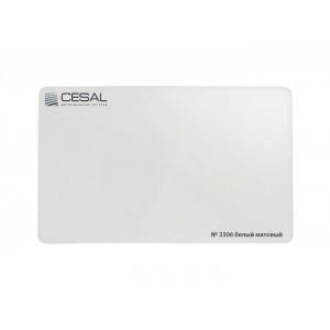 Кубообразная рейка C-дизайн С80 3306 80*50*3000мм, Белый матовый Cesal (Альконпласт)