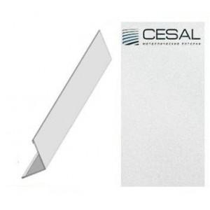 PL - уголок С01 25*25*3000мм, Жемчужно-белый Cesal (Альконпласт)