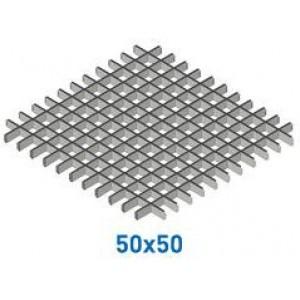 Профиль Грильято Классика 3306 ПАПА 50*50мм, Белый матовый Cesal (Альконпласт)