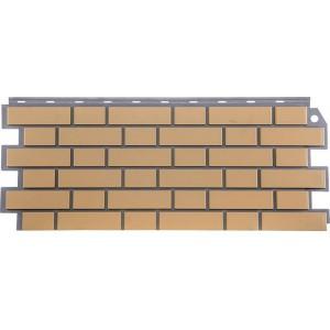 Фасадная панель Кирпич облицовочный 463х1130мм (0,46м2), Желтый FineBer