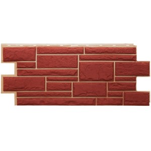 Фасадная панель Дикий камень 3009 455х1090мм, Красный Т-Сайдинг