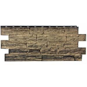 Фасадная панель Альпийская сказка 1001-9005 455х1090мм, Урал Т-Сайдинг