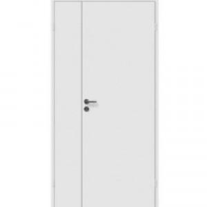 Дверь белая полуторная крашеная с притвором (в комплекте) М12,4*21 Олови