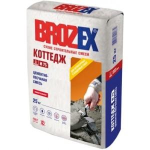 Цементно-песчаная смесь Коттедж М-75 Brozex 25 кг