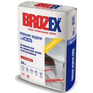 Наливной пол на цементной основе толстослойный NF-415 Нивелир Медиум Brozex 20кг