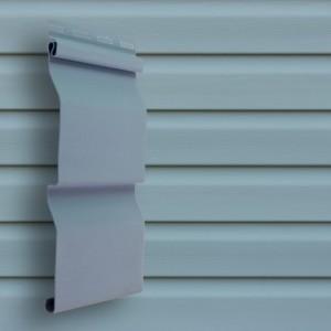 Сайдинг виниловый D4 3000*203мм (0,6м2) голубой, Grand Line