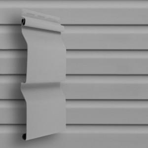 Сайдинг виниловый D4 3000*203мм (0,6м2) серый, Grand Line