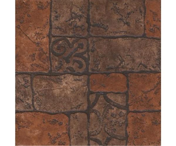 Керамогранит 400*400мм Бастион коричневый Керамин