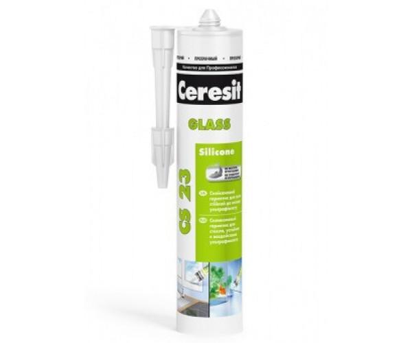 Герметик силиконовый для стекла прозрачный CS 23 Ceresit (280 мл)