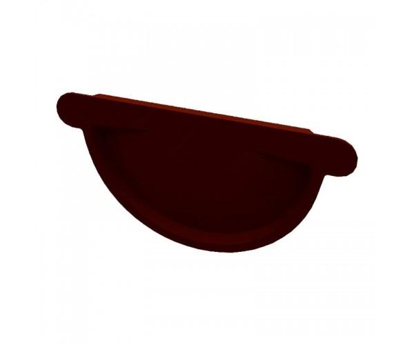 Заглушка желоба металлическая коричневая