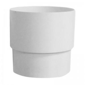 Муфта водосточной трубы белая Мурол