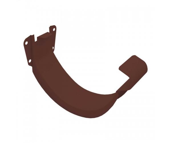 Держатель желоба металлический коричневый (короткий)