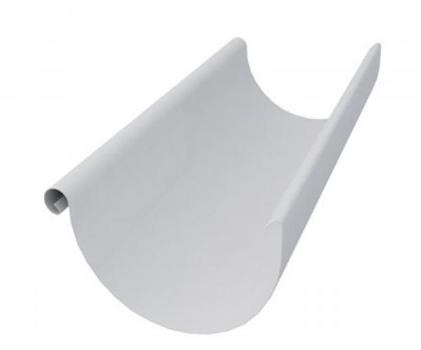Желоб водосточный металлический белый 3 м