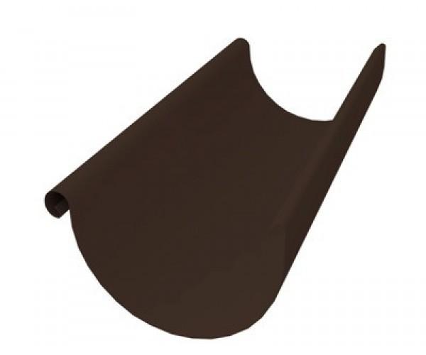 Желоб водосточный металлический коричневый 3 м