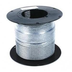 Трос стальной в ПВХ оплетке DIN 3055, 4/5мм (100м)