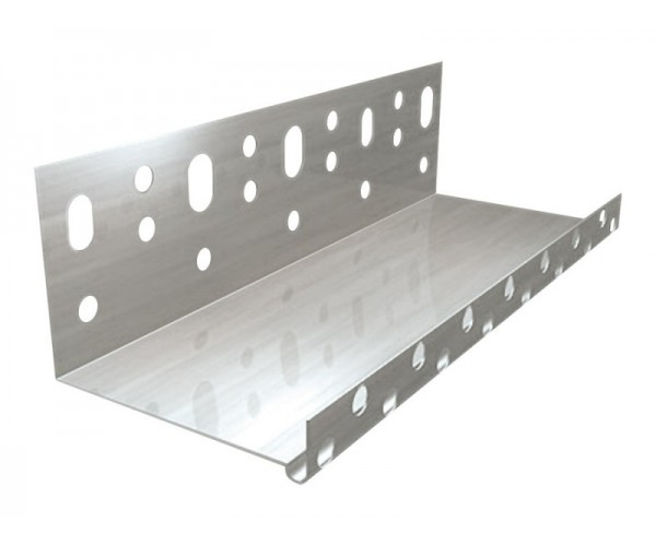 Профиль цокольный алюминиевый 100мм*2,5 м