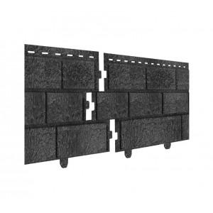 Цокольный сайдинг Стоун-хаус 230х3035мм, кирпич графитовый Ю-пласт