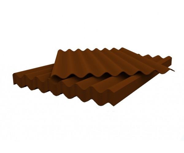 Шифер волновой коричневый 5,8*1130*1750 Белгород