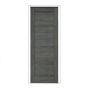 """Дверное полотно из экошпона без механизма замка """"Канзас"""" М8 со стеклом графит Олови"""