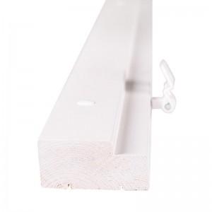 Комплект дверной коробки 600мм с фурнитурой ламинированный Белый Олови