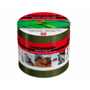 Лента-герметик 100мм*3,0 м NICOBAND зеленая