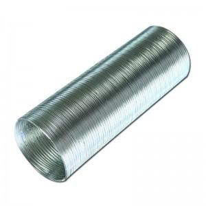 Воздуховод гибкий гофрированный алюминиевый D150мм 3м. ERA