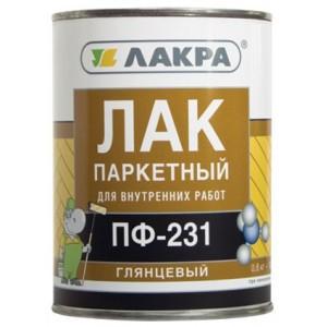 Лак паркетный ПФ-231 алкидный 1,8кг, ЛАКРА