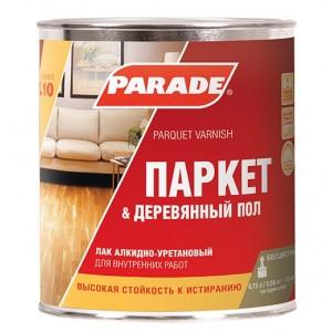 Лак паркетный алкидно-уретановый CLASSIC L10 полуматовый 0,75 л. PARADE