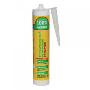 Герметик акриловый белый Ремонт на 100% (260 мл.)