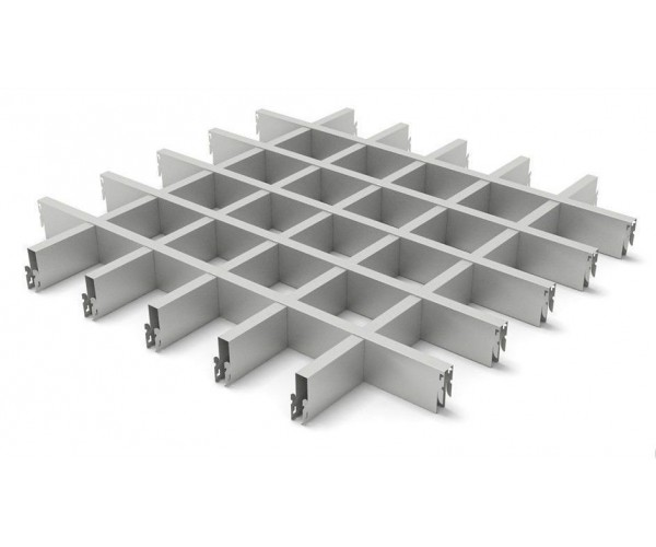 Грильято в сборе 50*50мм, алюминий Металлик серебристый Стандарт