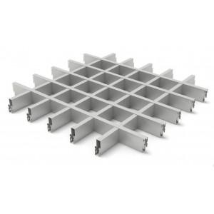 Грильято в сборе 75*75мм, алюминий Металлик серебристый Стандарт