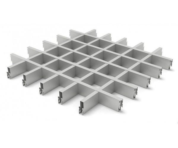 Грильято в сборе 100*100мм, алюминий Металлик серебристый Стандарт