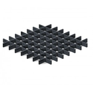Грильято в сборе 150*150мм, алюминий Черный матовый Стандарт