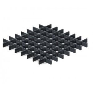 Грильято в сборе 100*100мм, алюминий Черный матовый Стандарт