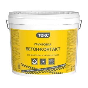 Грунт Бетон-контакт адгезионный акрилатный СТРОЙТЕКС 18 кг