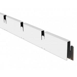 Грильято профиль ПАПА 150*150мм, алюминий Белый матовый Эконом