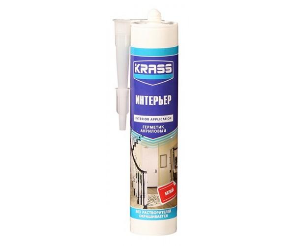 Герметик акриловый для интерьерных работ белый KRASS (300 мл)