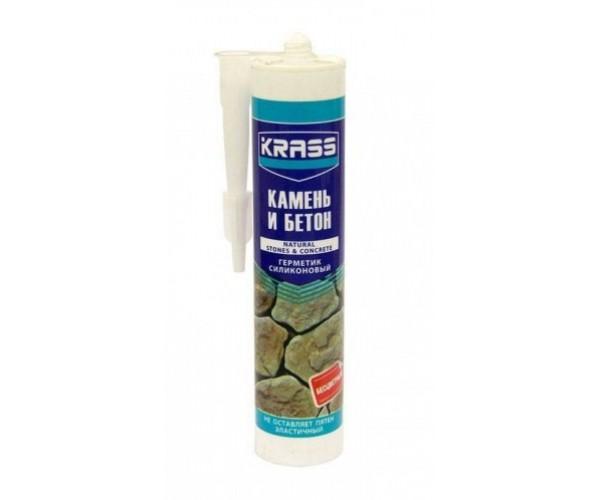 Герметик силиконовый для бетона и натурального камня бесцветный KRASS (300 мл)