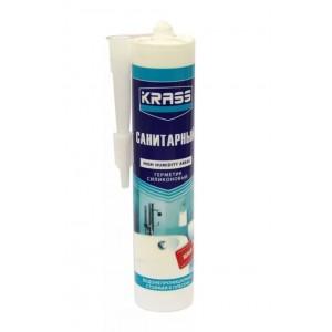 Герметик силиконовый санитарный белый KRASS (300 мл)