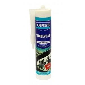 Герметик силиконовый универсальный серый KRASS (300 мл)