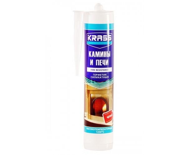 Герметик силикатный для каминов и печей до 1250С черный KRASS (300мл)