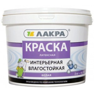 Краска латексная интерьерная влагостойкая Белый ЛАКРА 14 кг