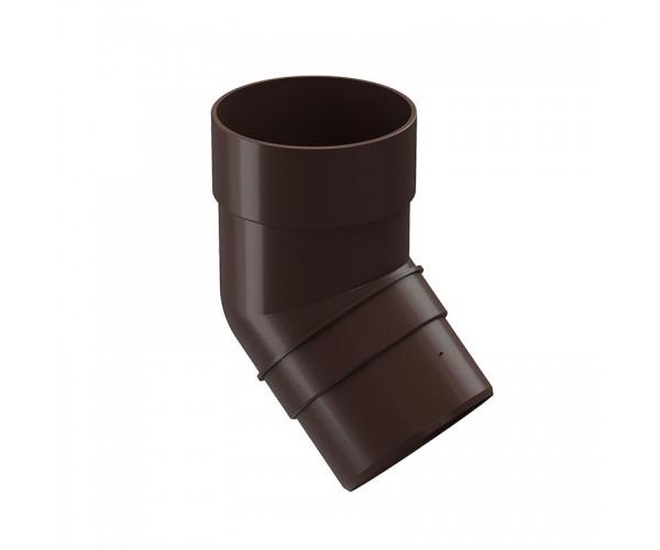 Колено водоотводное 45, шоколад Дёке PREMIUM