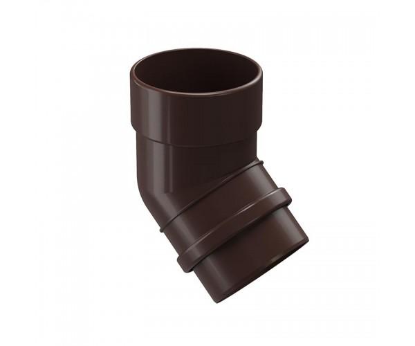 Колено водоотводное 45, шоколад Дёке LUX