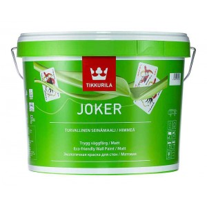 Интерьерная матовая краска Joker A TIKKURILA 9 л