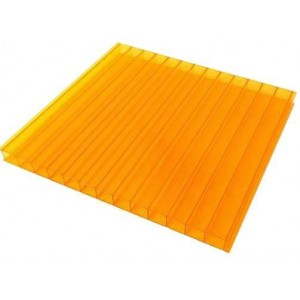 Поликарбонат 2100х6000х4мм (оранжевый) Соталюкс